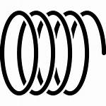 Spring Mechanical Icon Coil Spiral Vector Galaxy