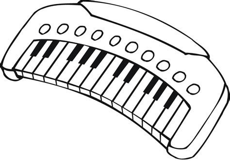 Coloring Keyboard by Printable Outline Of A Musical Keyboard For