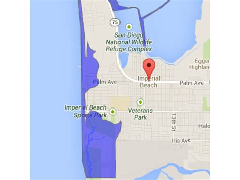 Parts San Diego by Tsunami Could Inundate Imperial Parts Of Coastal