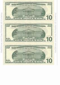 Blank Bill Of Sale Template Ten Dollar Bill Template Back Printable Pdf Download