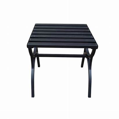 Patio Table End Garden Side Square Steel