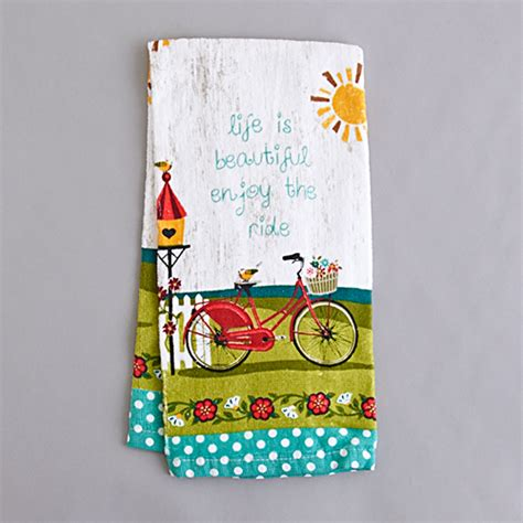 kay dee designs enjoy  ride kitchen towel boscovs