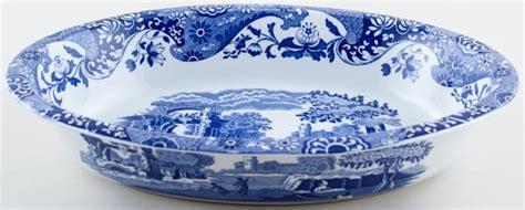 spode italian dish oval ovenproof cs lovers  blue  white