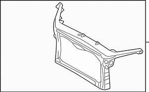 2012 Ford Fusion Radiator Support Panel  Front  Upper