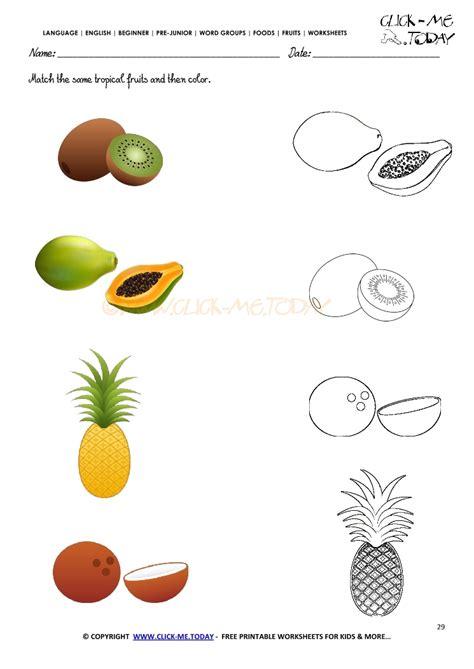 worksheet for kindergarten fruits fruits coloring and