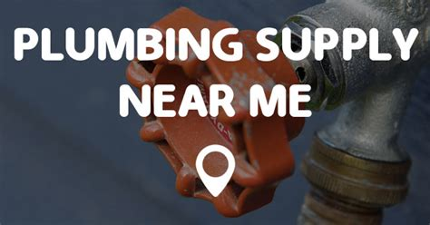 plumbing supply   points