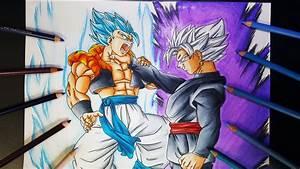 Drawing Gogeta SSGSS vs Black Goku Super Saiyan White ...