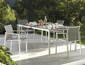 Chaise Table Jardin : table et 6 chaises de jardin en aluminium brin d 39 ouest ~ Teatrodelosmanantiales.com Idées de Décoration