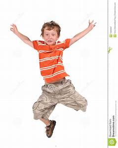 Jumping boy stock image. Image of little, color, childhood ...