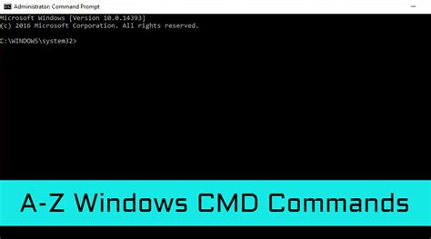 A to Z List Of Windows CMD Commands | Command Line Reference