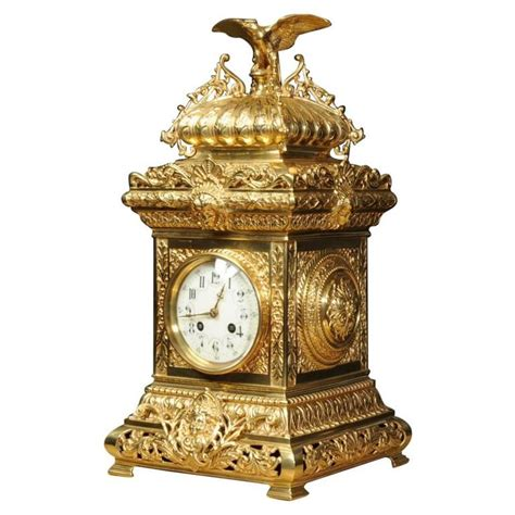 antique bronze table l antique table clock french gilt bronze by samuel marti