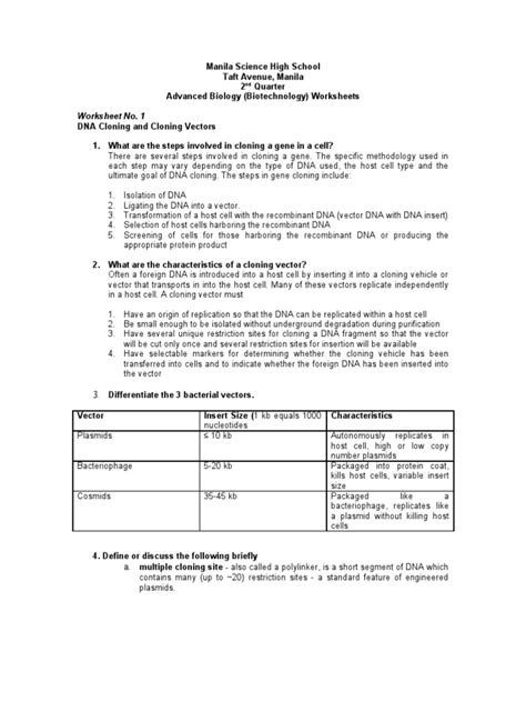 dna technology worksheet worksheets for all and