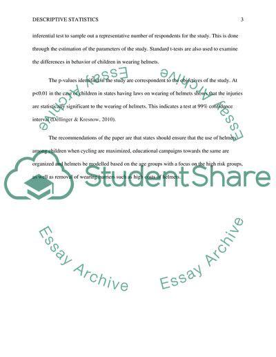 descriptive statistics case study  topics   written essays  words