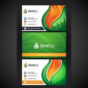 Tarjeta de presentación con diseño ecológico Descargar Vectores gratis