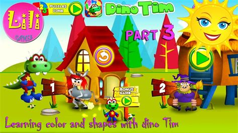 learning colors numbers  shapes  dino tim amazing
