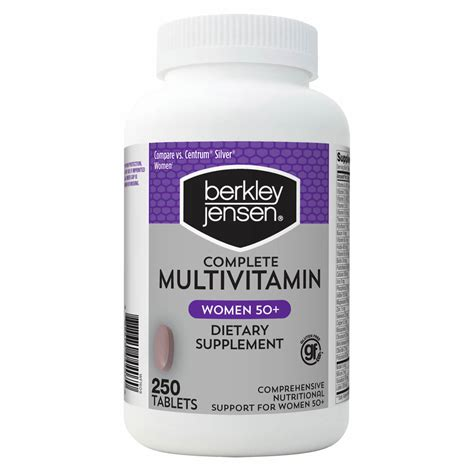 Berkley Jensen Multivitamin Women 50+, 250 ct. - BJ's ...