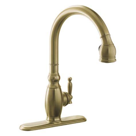 bronze kitchen faucets shop kohler vinnata vibrant brushed bronze 1 handle pull