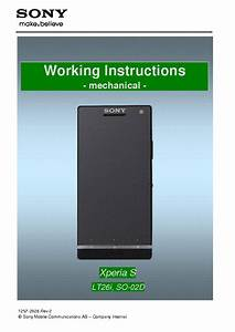 Sony Xperia S Lt26i Working Instructions Mechanical