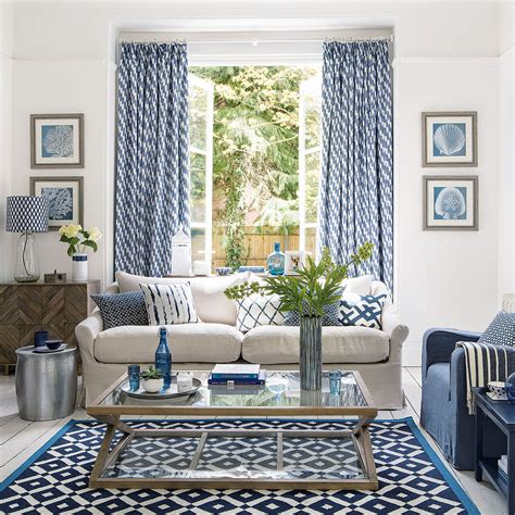 blue living room ideas decor in shades from navy to duck