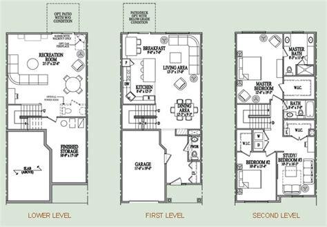 townhouse floor plans with garage three story condo floor plan my home three story house york and garage