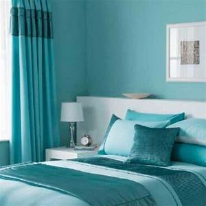 Full Turquoise Bedroom Decorating Theme And Curtain Ideas