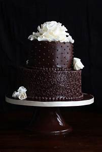 Two Tier Chocolate Cake - pretty cake with recipe! Nice ...