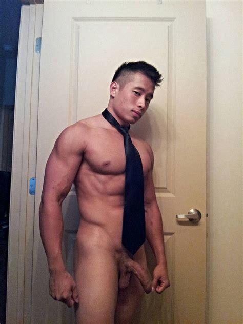 Muscular Nude Asian With A Big Penis