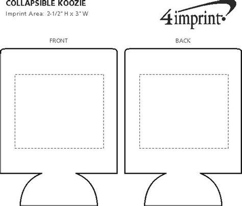koozie template 4imprint collapsible koozie 174 3568
