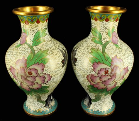 vases uk antique 1920 s cloisonne vase vases pair peones