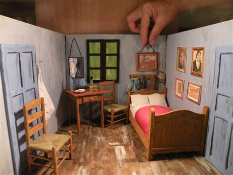 bedroom  arles van gogh miniature roombox paineis de