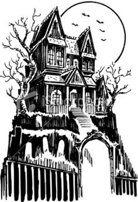 Blackwork tattoo. Haunted house half sleeve. | Dotwork