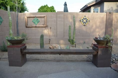 Inexpensive Patio Furniture Ideas by Diy Cinder Block Bench In The Garden Creative Ideas For