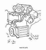 Fisher Coloring Pages Pony Hitch Horse Saw Sheets Books Fun Colouring sketch template