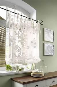 Raffrollo Weiß Transparent : 1 st raffrollo 100 x 140 wei ausbrenner blumen ~ Lateststills.com Haus und Dekorationen