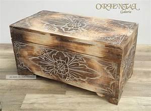 Blumen In Der Box : truhe schatztruhe holz kiste box dose holztruhe blumen aufbewahrung 60cm ~ Orissabook.com Haus und Dekorationen