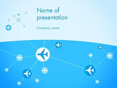 airlines theme powerpoint template backgrounds
