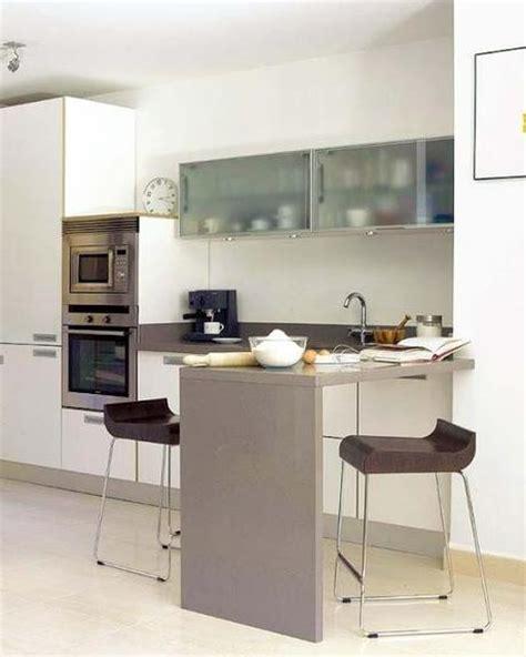 cocinas pequenas  modernas  barra paperblog