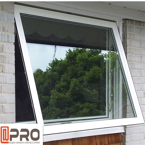 aluminum frame top hung casement window powder coating surface treatment awning glass window