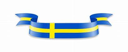 Flag Swedish Cartoon Clip Vector Sweden Illustrations