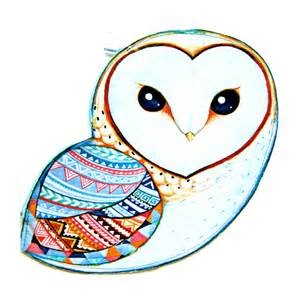 Owl Animal Drawings Geometric Shapes