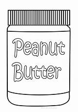 Coloring Pages Peanut Butter Clipart Jar Food Clip Peanuts Cliparts Laboratories Gamma Library sketch template