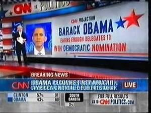 Barack Obama wins the Democratic presidential nomination ...