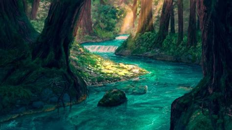 Animated River Wallpaper - forest river wallpaper engine free wallpaper