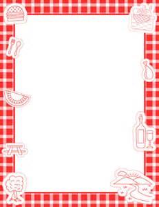 Picnic Page Border Clip Art