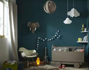 Chambre Fille : chambre bebe garcon bleu canard