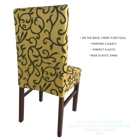 5 pattern printing lycra dining chair covers spandex for