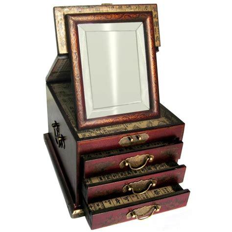 boite 224 bijoux avec miroir biseaut 233 promodiscountmeubles