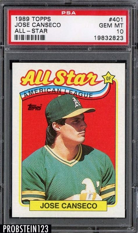 One of the biggest names in the hobby in 1990, jose canseco was always one of the players who collectors wanted to see as they ripped open packs of cards. Auction Prices Realized Baseball Cards 1989 Topps Jose Canseco All-Star
