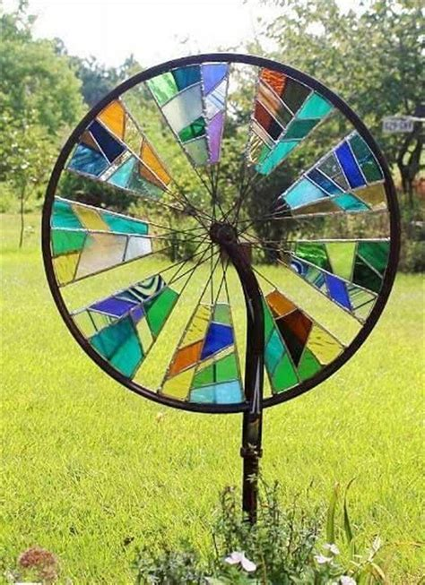 stained glass projects for outdoors top 33 amazing bike wheels craft ideas diy to make