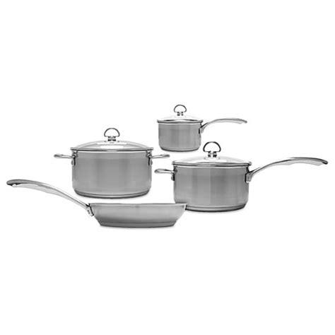 chantal induction  steel  piece cookware set  open stock wwwbedbathandbeyondcom